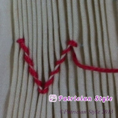 trellis stitch 4step10