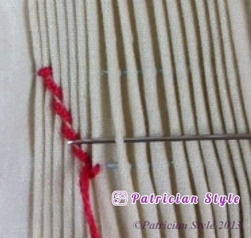 trellis stitch 4step5