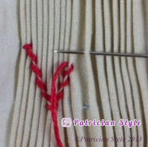 trellis stitch 4step8