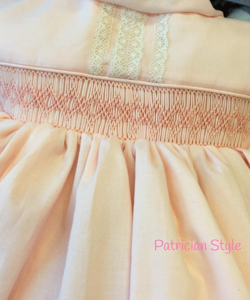 baby pink smocking dress
